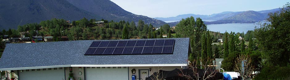 solar panel mountian view